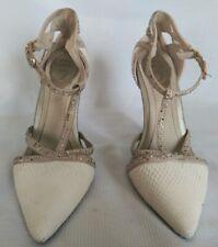 df91af71b756 Rene Caovilla snakeskin sandals and Swarovski Crystal T-strap Heels Sz38   1700!