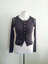 So Chic! Yamada Michiko size S grey wool blend knit