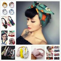 Summer Womens Headband Cute Bowknot Hair Bands Wrap Fabric Headwrap Accessories.