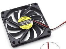 DC 12V 2 Pin 8cm 80mm x 10mm Thin PC Computer Case CPU Cooler Cooling Fan Black