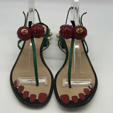 Gucci Green & Red Hatsumomo Sandal Size 9