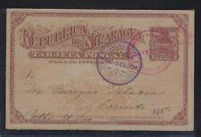 NICARAGUA (P2504B)  1890 2C TRAIN PSC MANAGUA TO CORRINTO