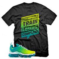 Champions T Shirt For Nike Air Vapormax Plus Spirit Teal/Cyber, Unisex Black Tee