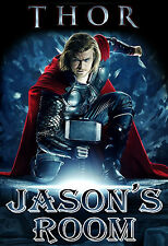 034 MARVEL THOR CHRIS HEMSWORTH PERSONALIZED CUSTOMIZED DOOR ROOM POSTER