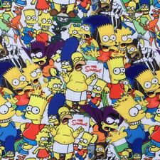OFFCUT THE SIMPSONS BART HOMER CARTOON CULT POLYCOTTON FABRIC  CHARACTER