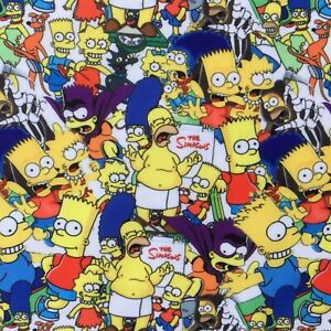 FQ THE SIMPSONS BART HOMER CARTOON CULT POLYCOTTON FABRIC  CHARACTER