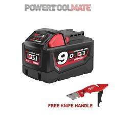 Genuine Milwaukee M18B9 18V 9.0Ah Li-Ion Battery with 48221902 Knife Handle
