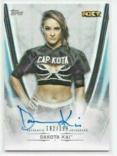 2020 Topps WWE Undisputed DAKOTA KAI On-Card Autograph #'d /199 Auto NXT