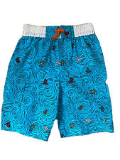 Nwt 4T Boys Swimming Trunks Shorts Toddler Boy Blue White