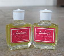 Lot 2 Vintage New Ambush Dana Perfume Eau De Cologne Miniatures