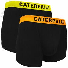 CAT CATERPILLAR Herren Boxer Shorts Gelb/Orange Retro Short Unterhose M L XL XXL