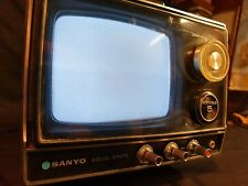 Vintage Sanyo 5-TC1 Cadnica Portable Black And White TV, Working, (ref A24)