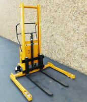 "Big Joe M22 Semi-Electric Pallet Stacker Electric Lift, Manual Push 2200 lbs 62"""