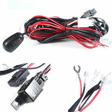 Relay Harness Wire Kit + LED ON/OFF Switch For Fog Lights HID Work lamp New