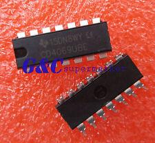 10pcs Cd4069 Cd4069Ube Dip-14 Unbuffered Hex Inverter New