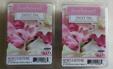 2 Packs Scentsationals Sweet Pea 2.5oz Fragrant Wax Melts 12 Scented Wax Cubes