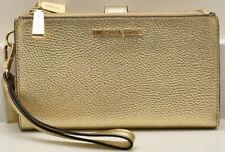 Michael Kors Metallic Double iPhone 7 Wristlet Wallet Gold New! NWT