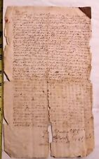 18th C signed tax collection document Westford Ma Oliver Spaulding Boynton 1783
