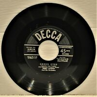 """JIMMY DORSEY """"Green Eyes / The Breeze And I""""  1950 45 RPM Decca 9-25119"""