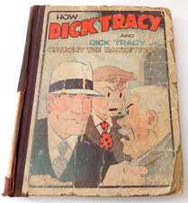 Dick Tracy & Dick Tracy Jr. Caught Racketeers Rare 1933 Hardcover as is