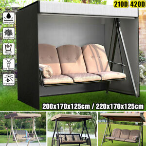 Waterproof 3 Seater Swing Cover Hammock Protection Garden Patio Yard Hanging