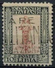 Libya Italian Colony 1926 SG#51a 10c Rose And Black P11 Used #A92530