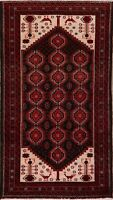 Vintage Tribal Geometric Balouch Hand-Knotted Area Rug 4x8 Nomad Oriental Carpet