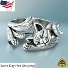 Fashion Cat Shaped 925 Silver Rings For Women Party Jewelry Rings