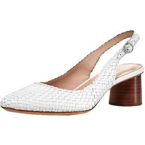 Loeffler Randall Womens Martine White Heel Sandals  10 Medium (B,M) BHFO 1069