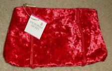Victoria's Secret Nwt Soft Plush Faux Fur Red Zip Around Make-up Bag Pouch #2