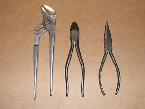Vacuum Grip & Snap On Plier/Cutter Lot #90, #87, #96