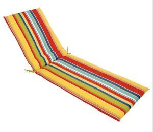 Chaise Cushion McRae Basic Multicolor Stripe Lounge Cushion m12