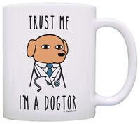 Veterinarian Gifts Trust Me I'm a Dogtor Funny Dog Gifts Dog Coffee Mug Tea Cup