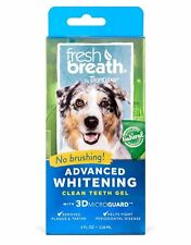TROPICLEAN Advanced WHITENING Clean Dog Teeth Gel - Attack PLAQUE & TARTAR