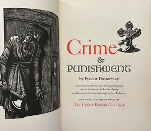 Crime and Punishment, signed by artist Fritz Eichenberg LIMITED EDITIONS CLUB