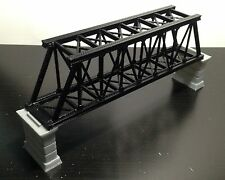 Outland Models Railroad Truss Bridge Black (for Single Track) with Piers Z Scale