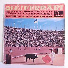 33T 25cm Louis FERRARI Accordéon Vinyl OLE ! ESPANA CANI MADRID Tauromachie RARE