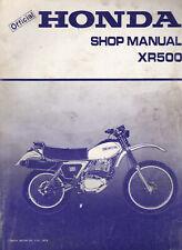 Honda XR500 1979 Shop Manual