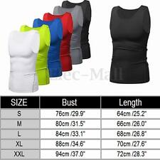 Mens Compression Base Layer Body Under Skin T-Shirt Tight Gear Tops Wear 3 Types