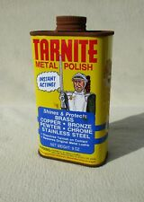 vintage tarnite metal brass polish tin advertising old can knight nice graphics