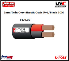TYCAB 3MM Twin Core Wire Cable Red/Black 10M Automotive 12V 24V Boat Caravan