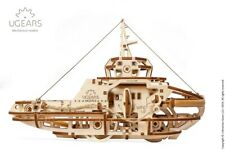 UGears Laser Cut Mechanical Wooden Model Kit Tugboat # 70078
