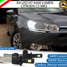 KIT LED H7 CITROEN C5 MK3 6000K LUCI DI SVOLTA ACCENSIONE RAPIDA 6400 LUMEN
