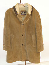 VINTAGE MEN'S SEARS CORDUROY CAR COAT! KNIT COLLAR WITH LOOP! PILE LINING! 40