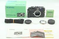 💯 BOXED 【MINT w/ Grip】 Voigtlander Bessa R2 Black Body Film Camera From JAPAN