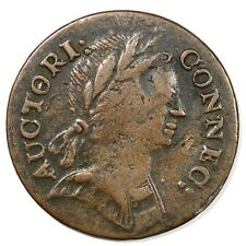 1785 5.2-F.5 R-4 Connecticut Colonial Copper Coin