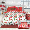 CHRISTMAS SAUSAGE DOG Animal Print Novelty Fun Reversible Duvet Cover Set Multi