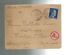 1944 Germany Wolfenbuttel KZ Concentration Camp Cover to France Rene Bellotte