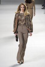 "AMAZEBALLS Chloe Runway Wide Leg High Waist Herringbone Pants 6 40 33"" Inseam"