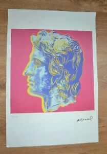 ANDY WARHOL Lithograph Ld Ed 100 Alexander Great LEO CASTELLI ARCHES Paper 15X22